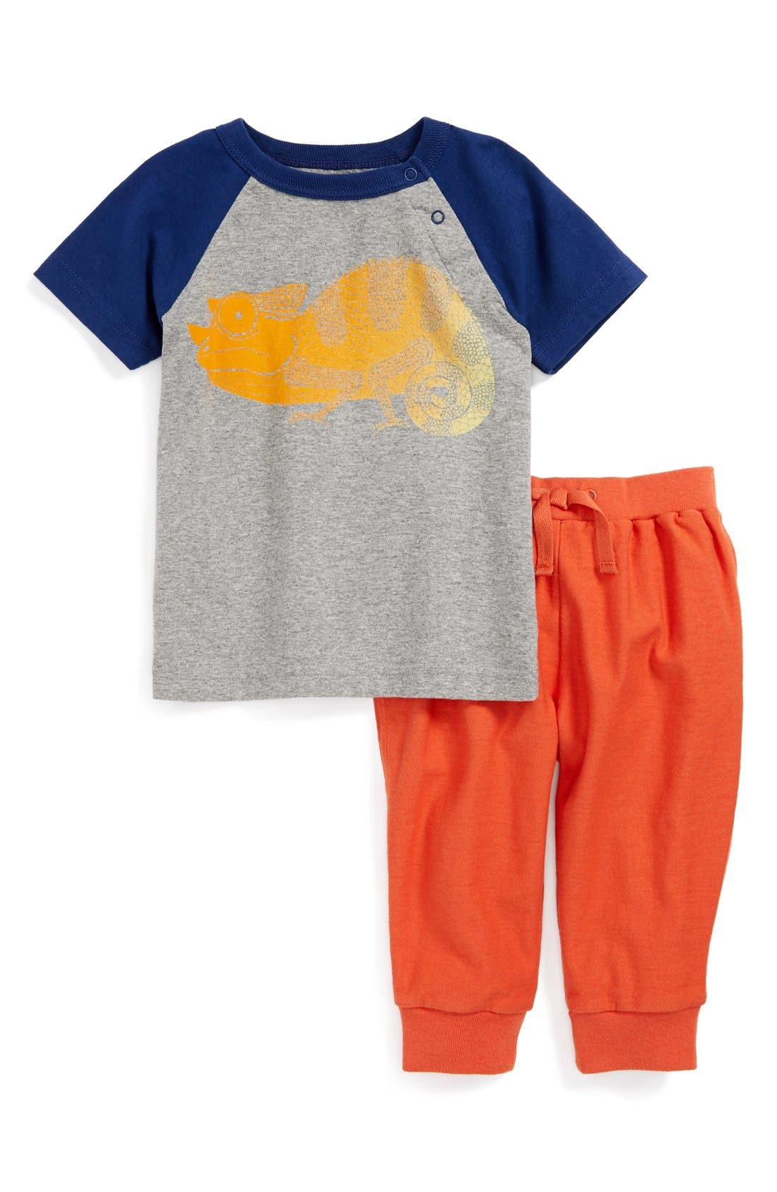 Alternate Image 1 Selected - Tea Collection 'Chameleon' T-Shirt & Pants (Baby Boys)