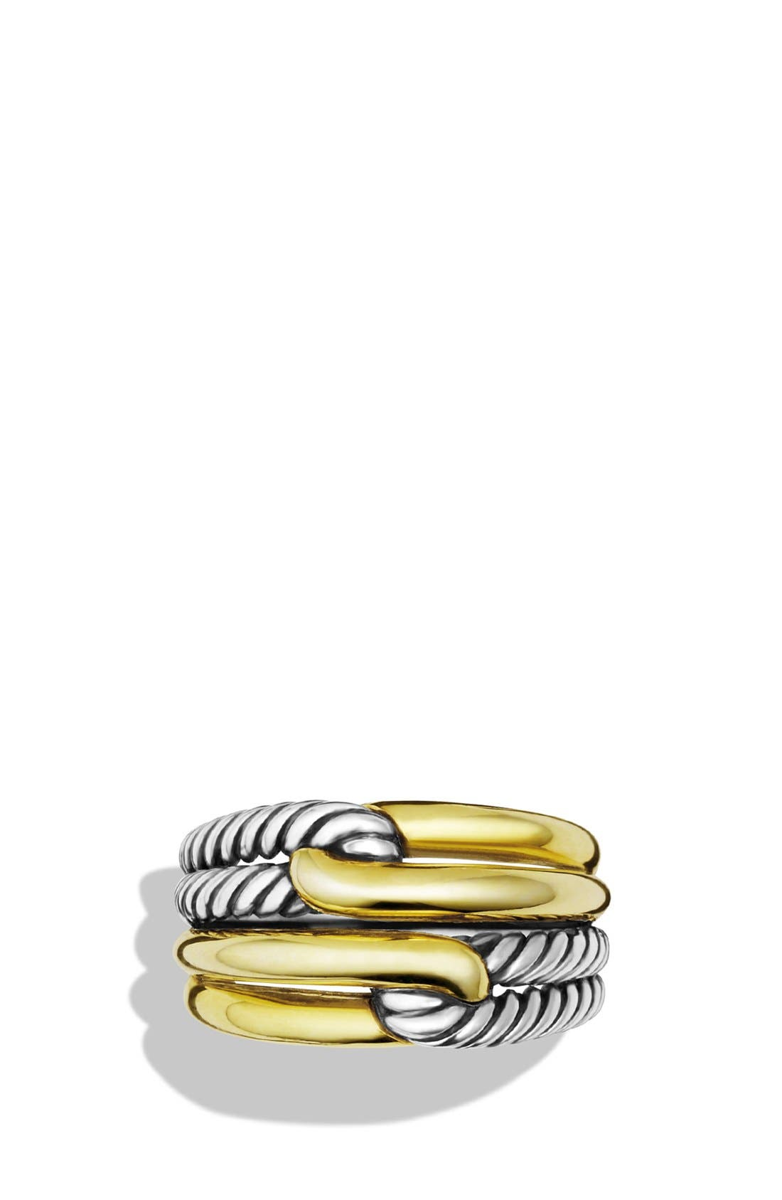 Alternate Image 3  - David Yurman 'Labyrinth' Double-Loop Ring with Gold