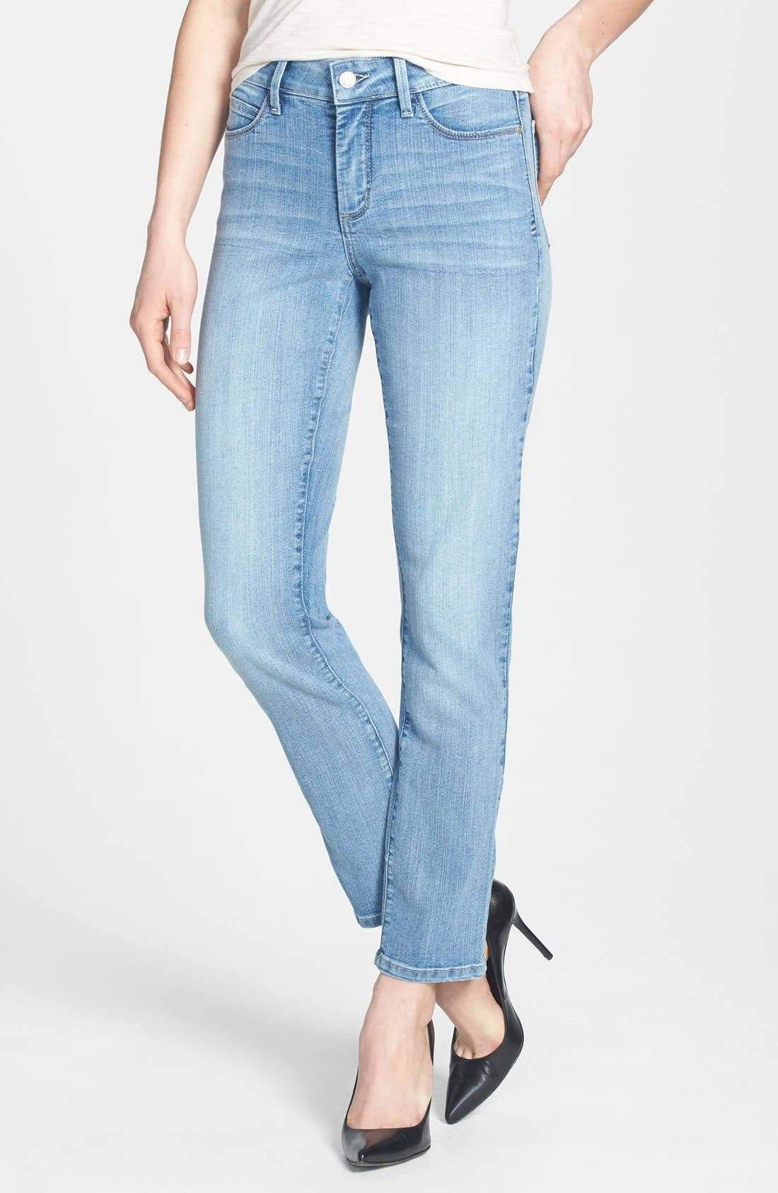 Alternate Image 1 Selected - NYDJ 'Bobbie' Stretch Boyfriend Jeans (Aruba) (Regular & Petite)