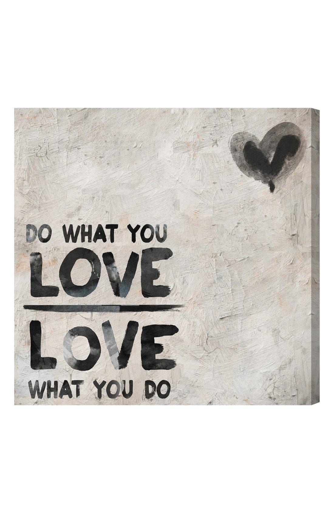 'Do What You Love' Wall Art,                         Main,                         color, Grey