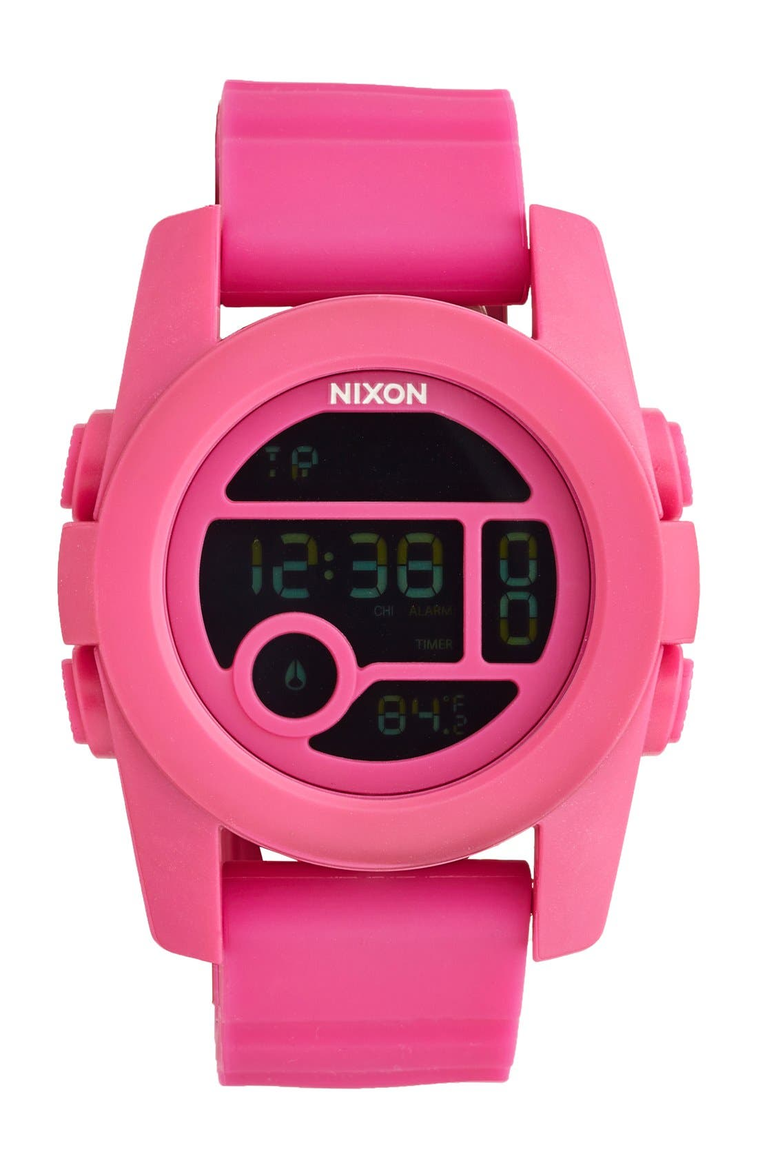 Nixon 'The Unit 40' Round Digital Watch, 40mm