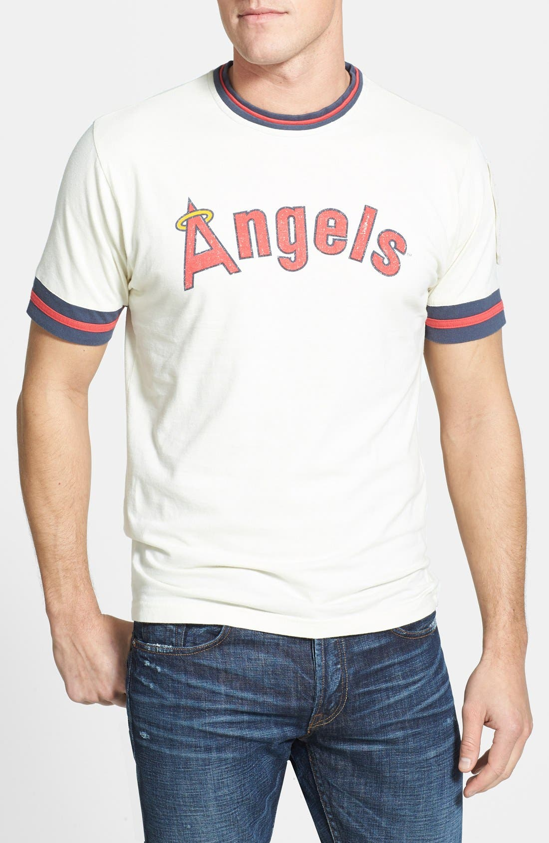 Main Image - Red Jacket 'Los Angeles Angels' Trim Fit Ringer T-Shirt (Men)