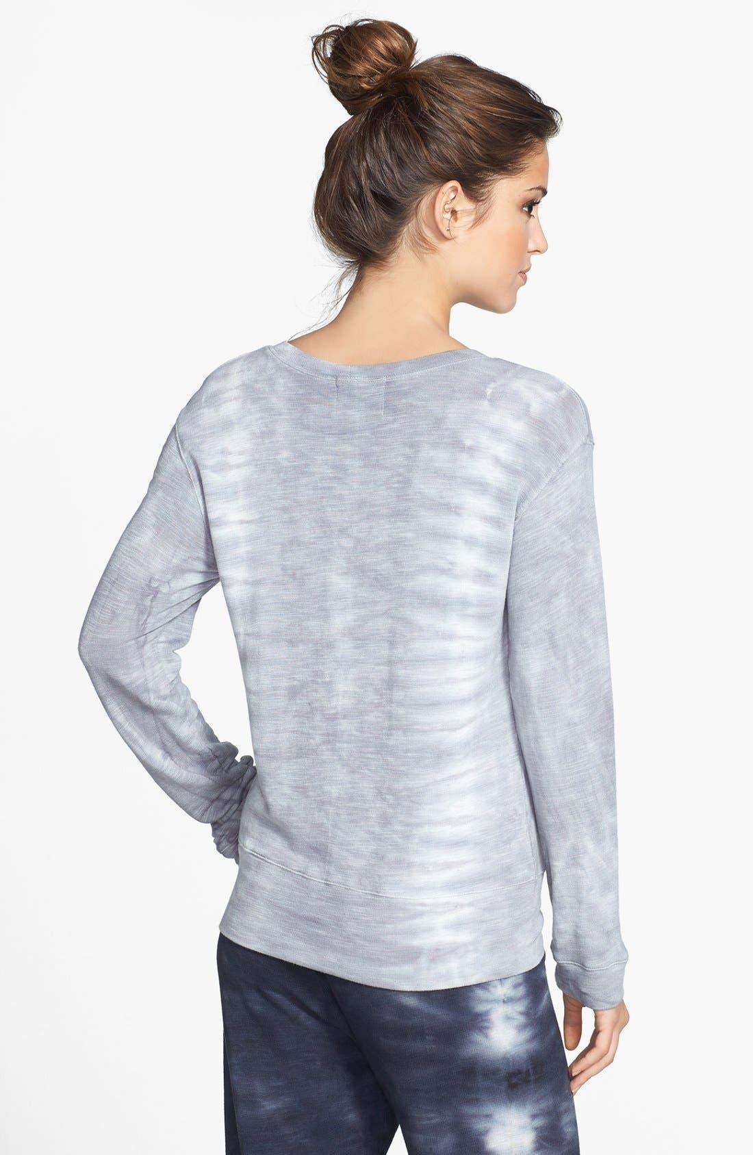 Alternate Image 2  - Monrow 'Fish Bone' Crewneck Sweatshirt