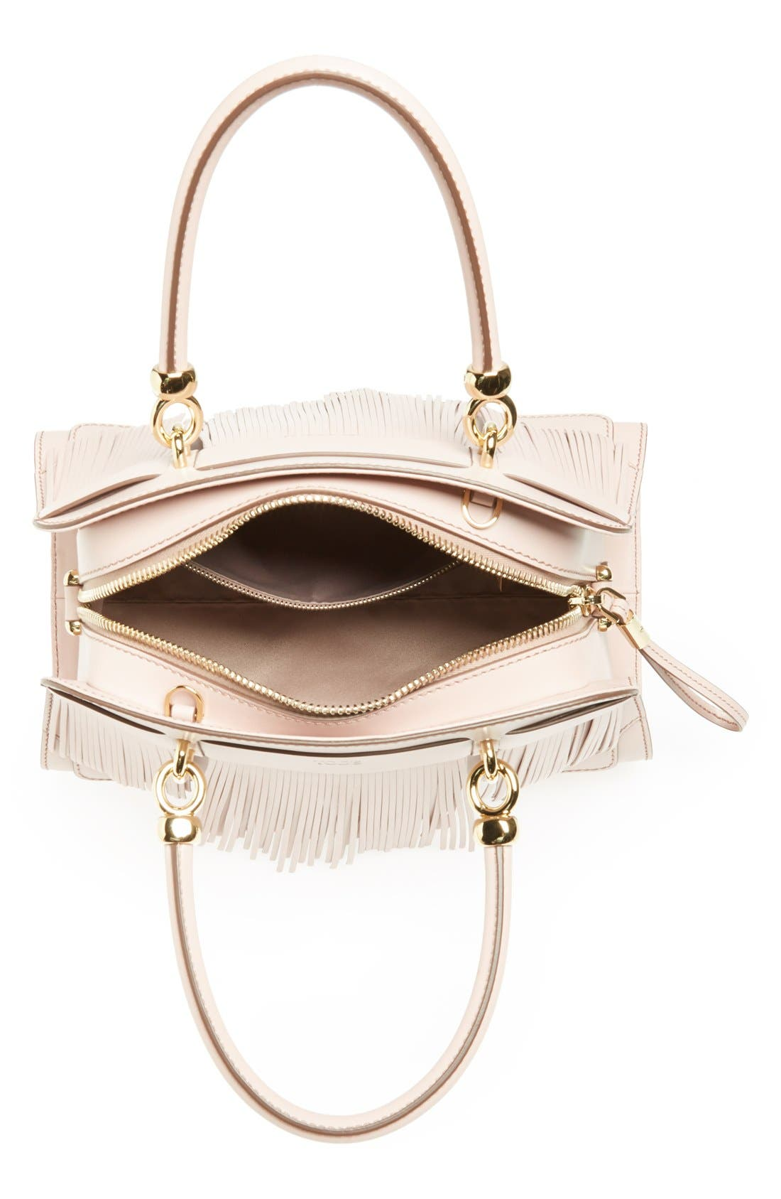 Alternate Image 3  - Tod's 'Sella' Fringe Leather Satchel