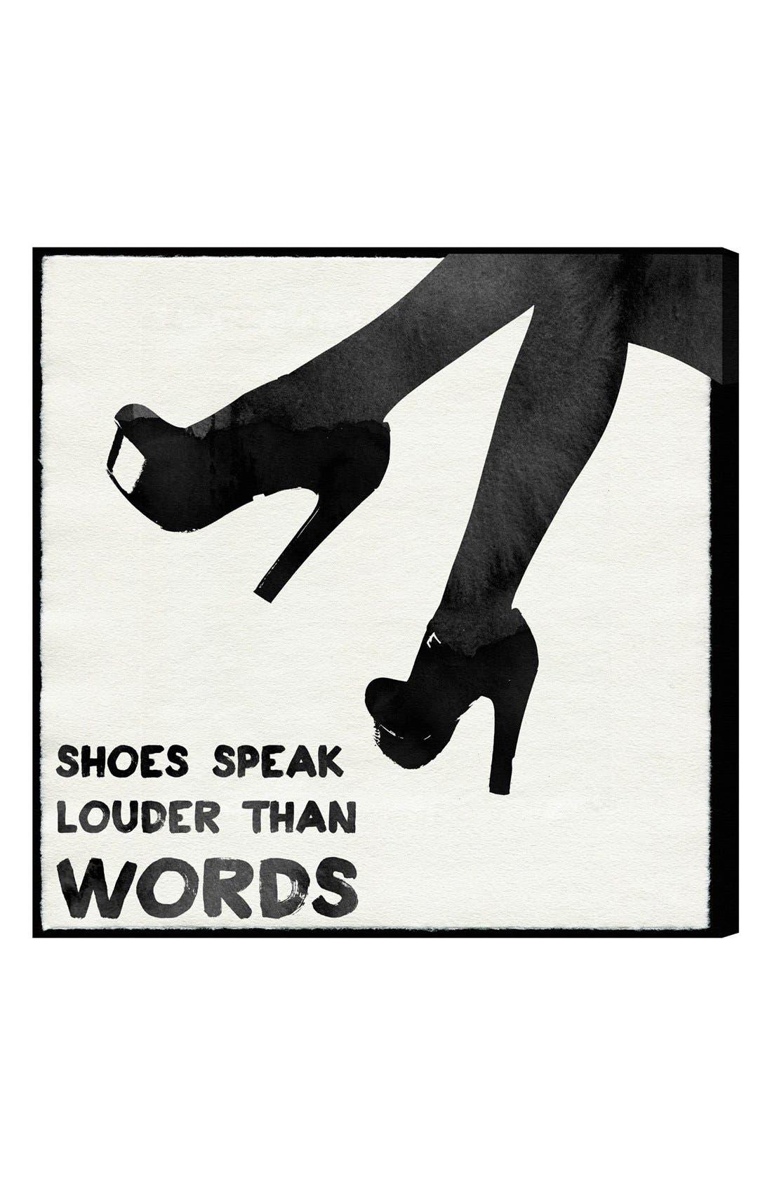 Alternate Image 1 Selected - Oliver Gal 'Shoes Speak Louder than Words' Wall Art