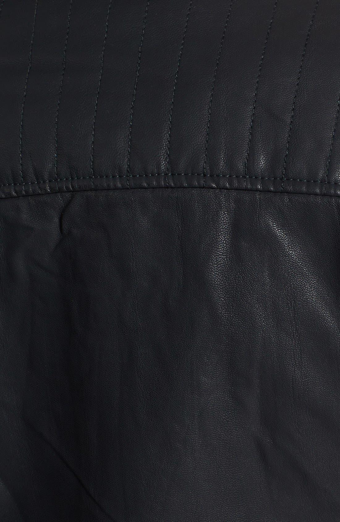 Alternate Image 5  - Topshop 'Cherrie' Faux Leather Biker Jacket