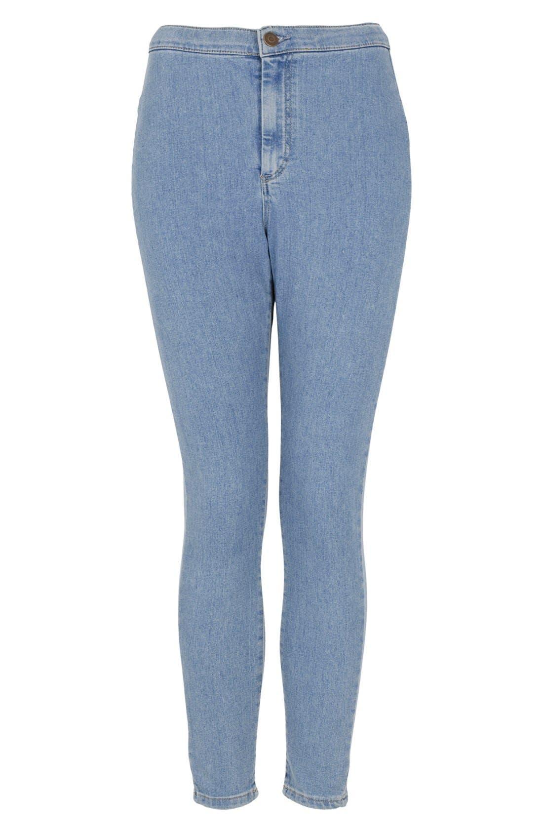 Alternate Image 5  - Topshop Moto 'Joni' High Rise Skinny Jeans (Mid Stone)