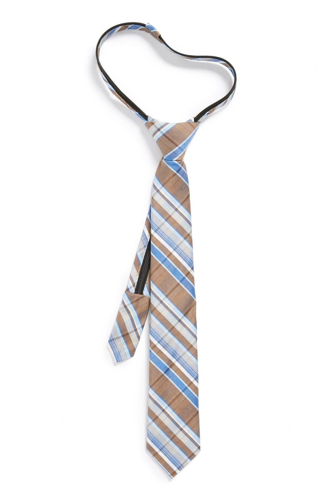 Main Image - Nordstrom Cotton Blend Zipper Tie (Little Boys)