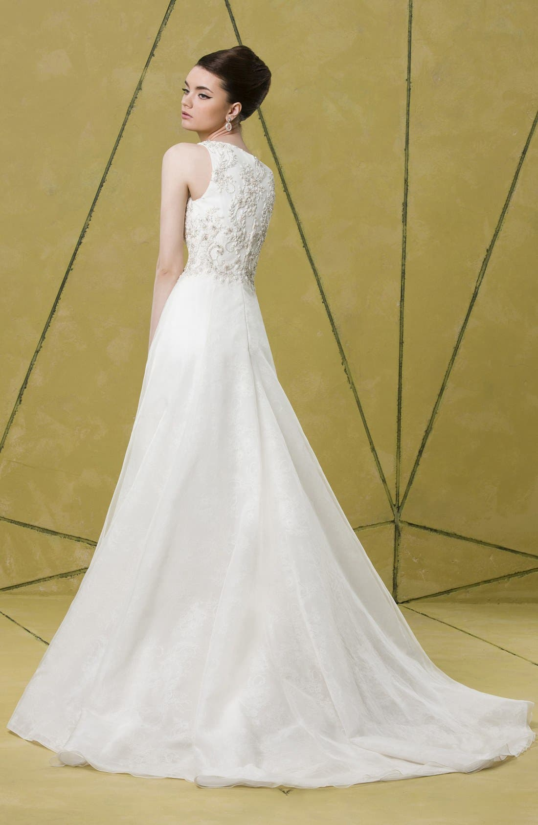 Alternate Image 5  - Badgley Mischka Bridal 'Lana' Embellished Silk Organza Dress (In Stores Only)