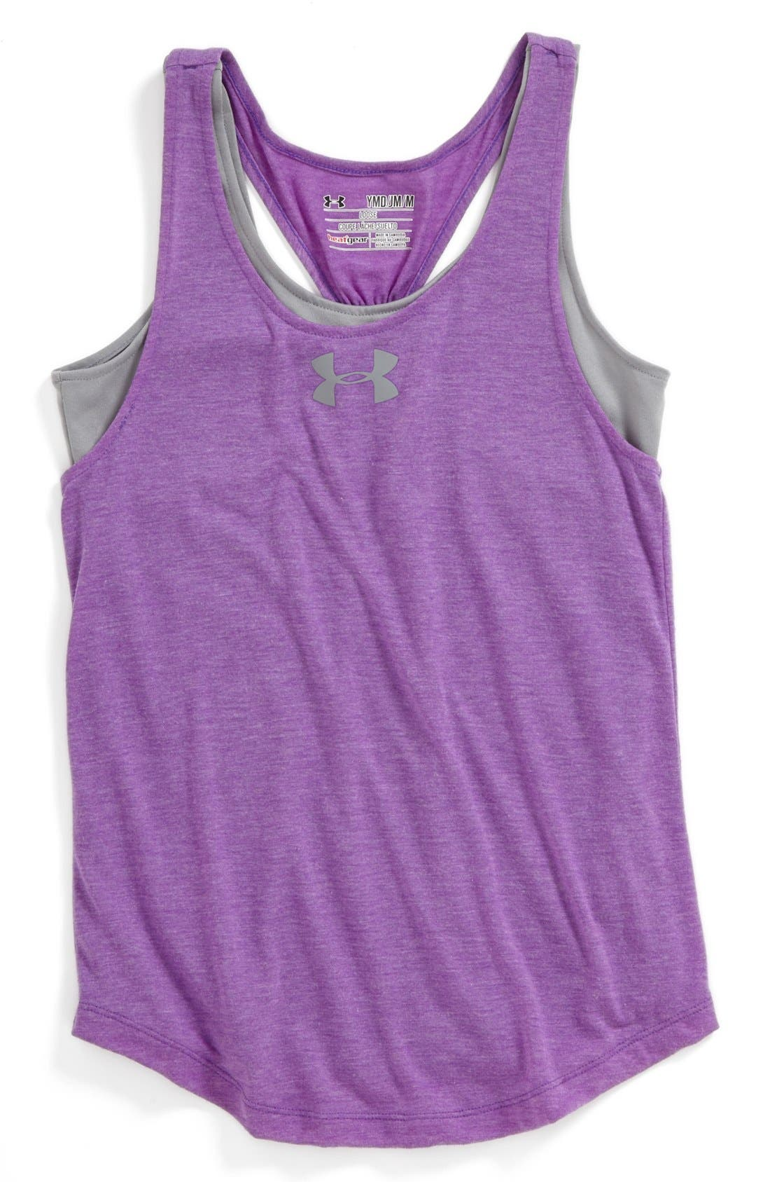 Main Image - Under Armour 'Double the Fun' Tank Top (Big Girls)