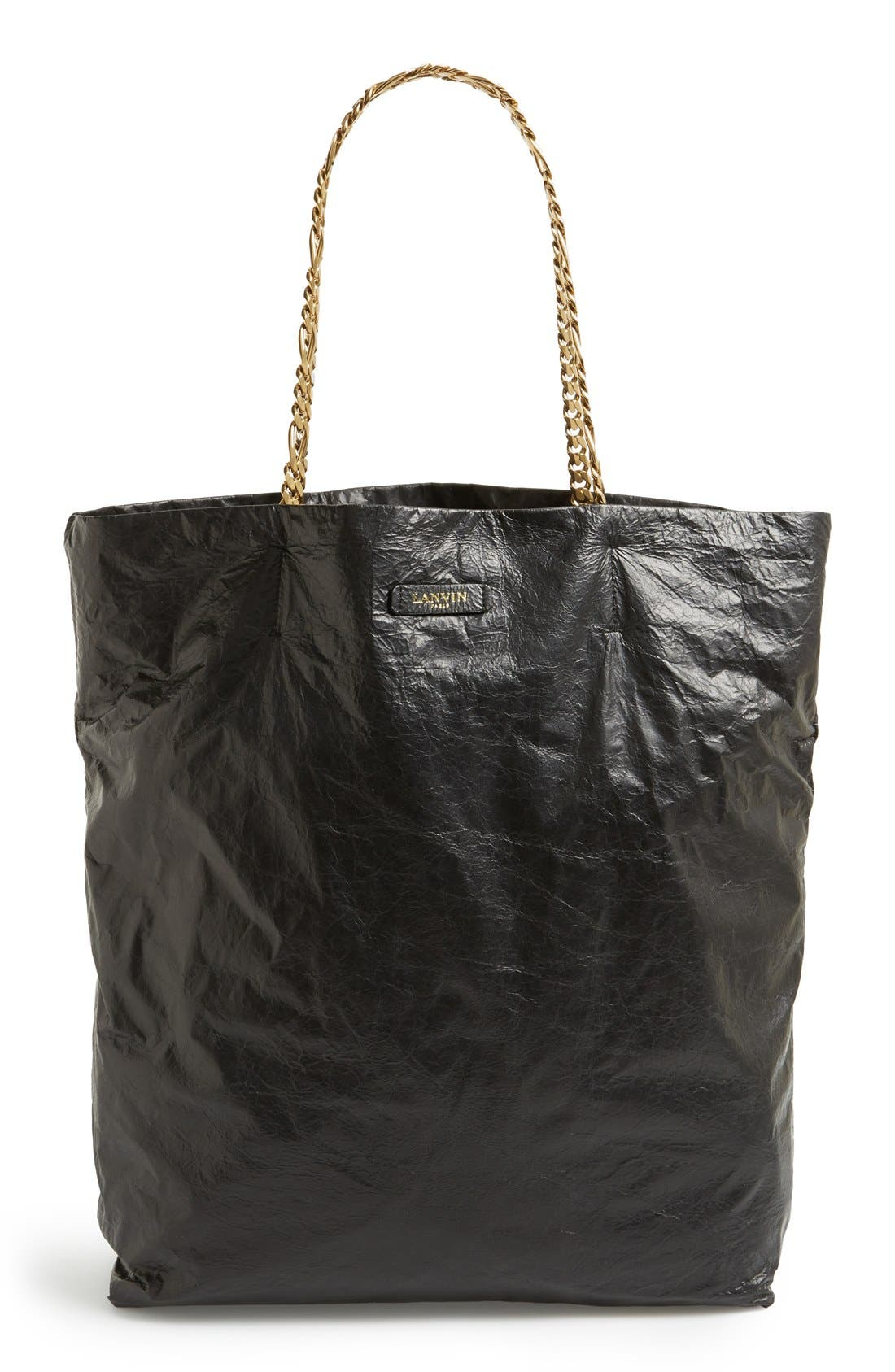 Alternate Image 1 Selected - Lanvin 'Paper Bag' Laminated Lambskin Tote