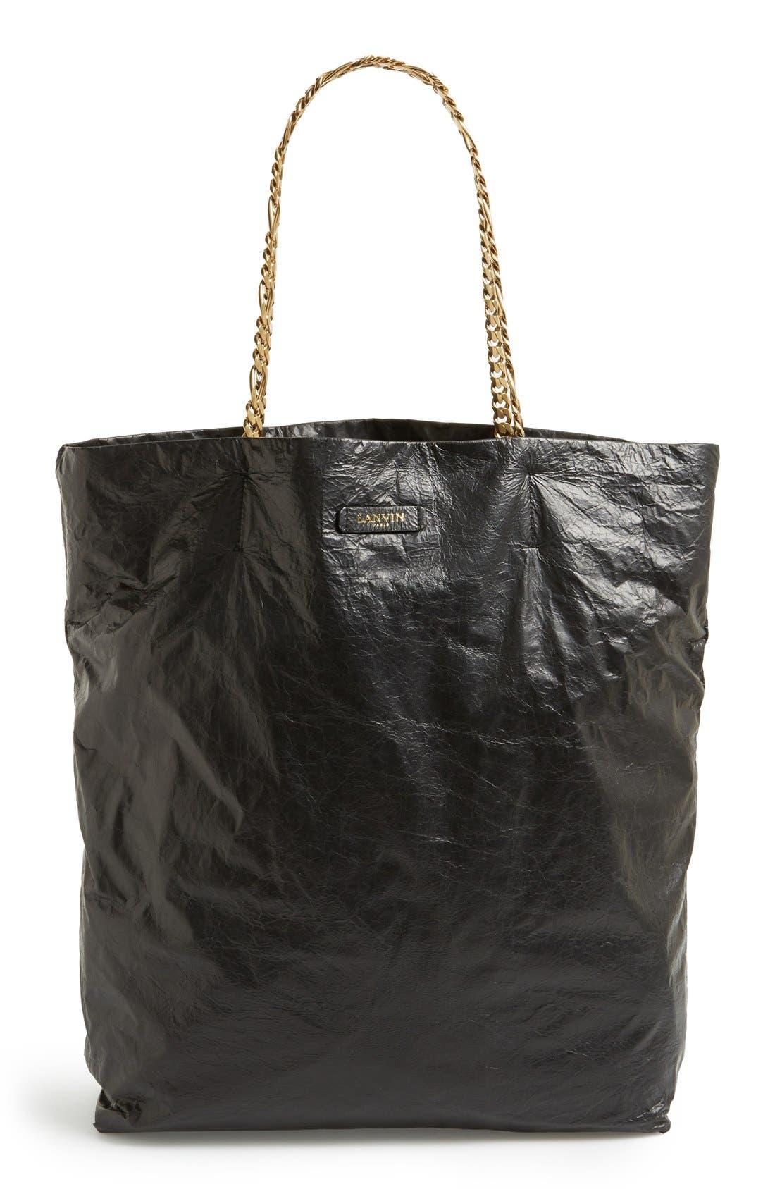 Main Image - Lanvin 'Paper Bag' Laminated Lambskin Tote