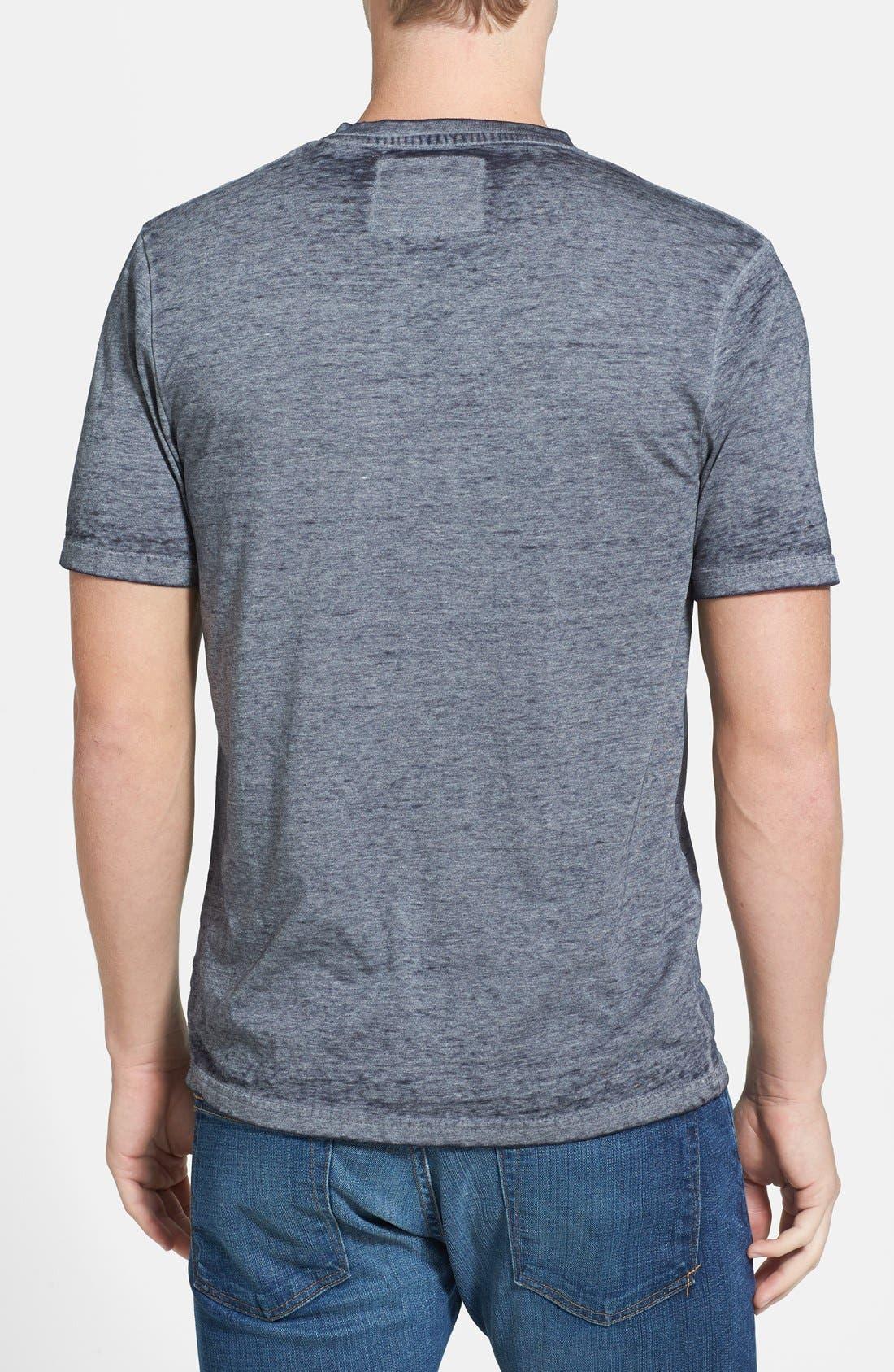 Alternate Image 2  - Red Jacket 'New York Yankees - Burnout' V-Neck T-Shirt