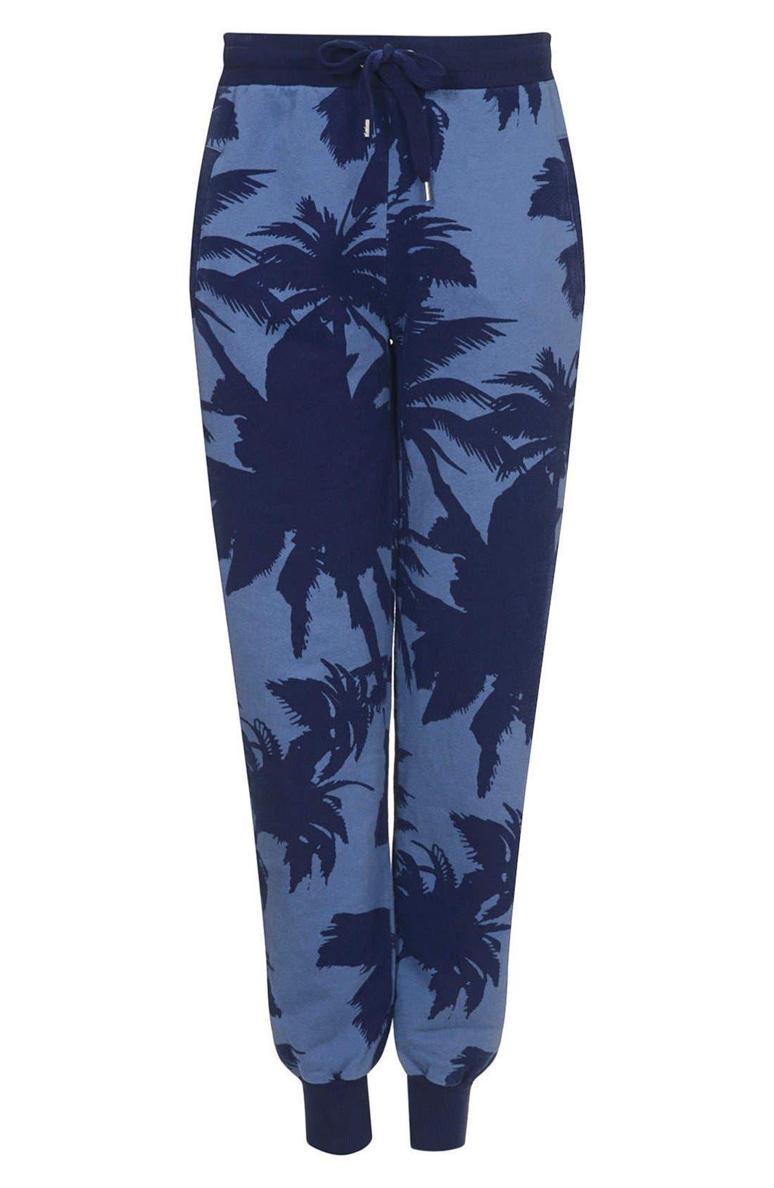 Alternate Image 3  - Topshop Palm Print Track Pants
