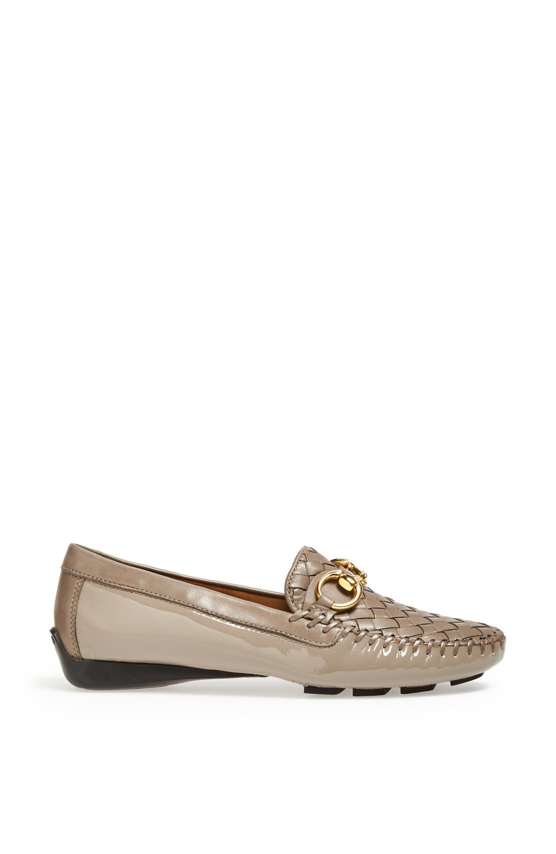'Perlata' Loafer,                             Alternate thumbnail 4, color,                             Taupe Patent