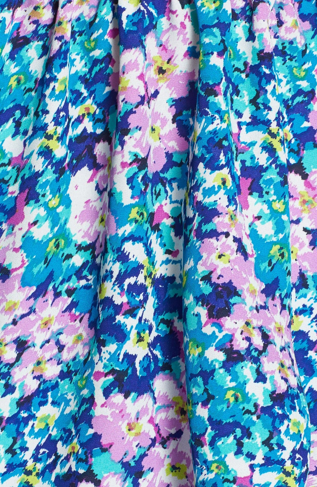 Alternate Image 3  - Haute Society Floral Print Lattice Detail Tank (Juniors)