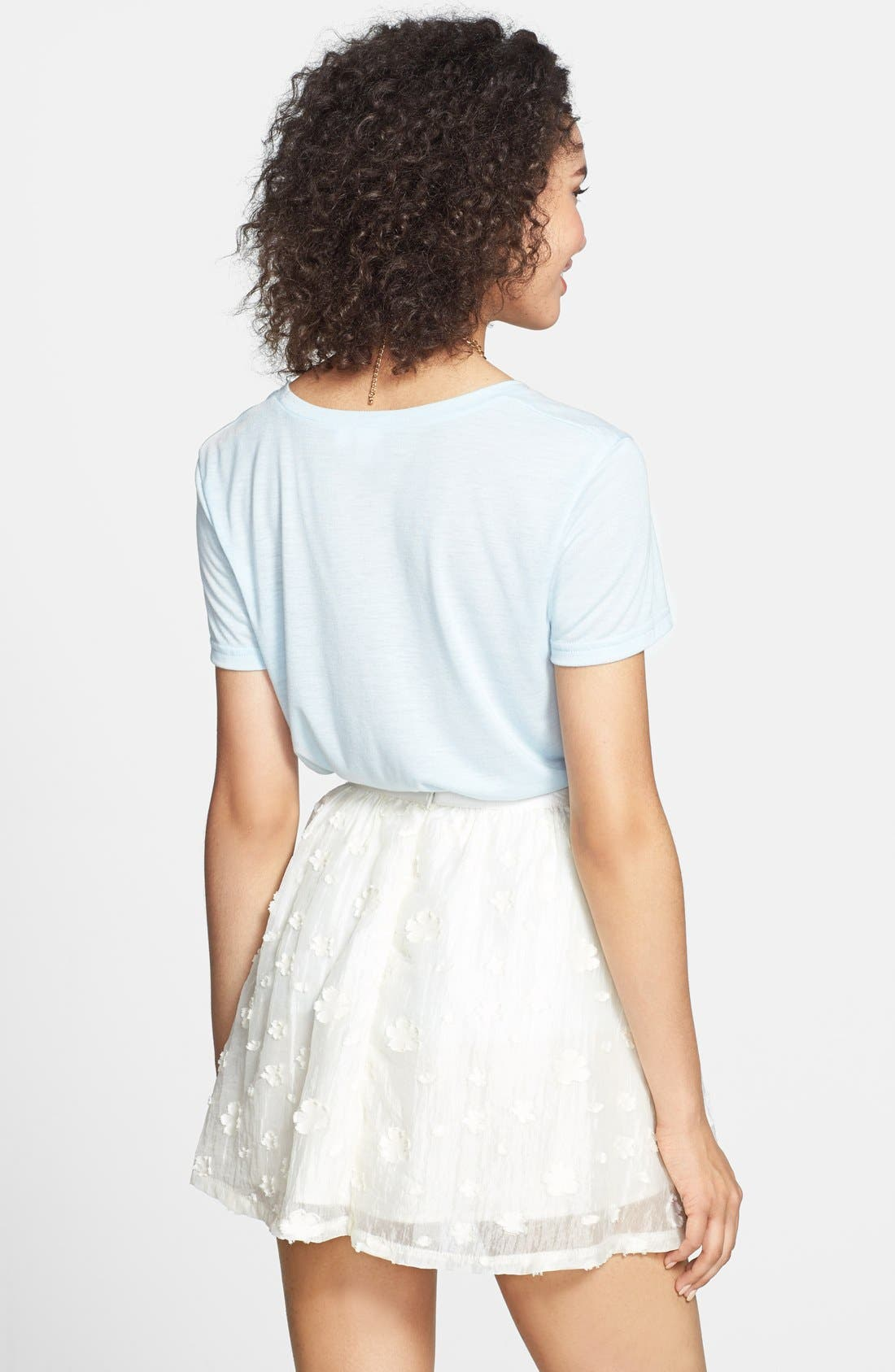 Alternate Image 2  - Lush Floral Textured Skirt (Juniors)