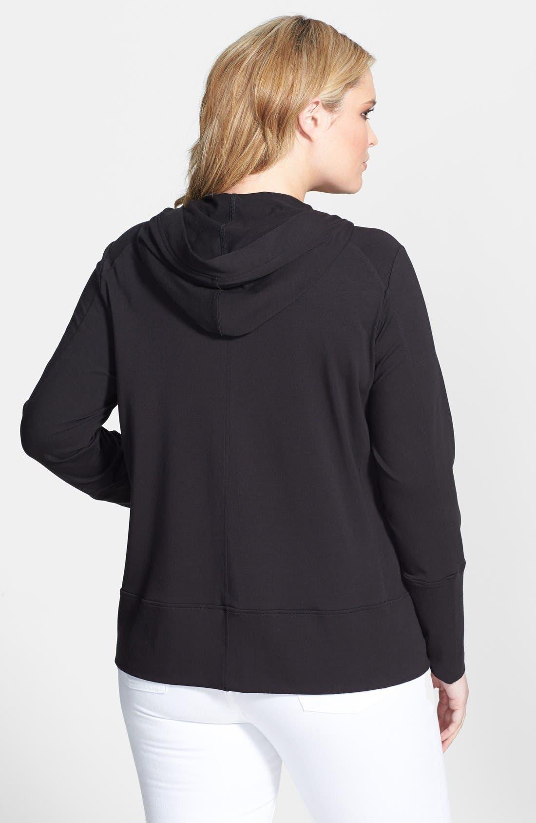 Alternate Image 2  - Eileen Fisher Organic Cotton Blend Jacket (Plus Size)