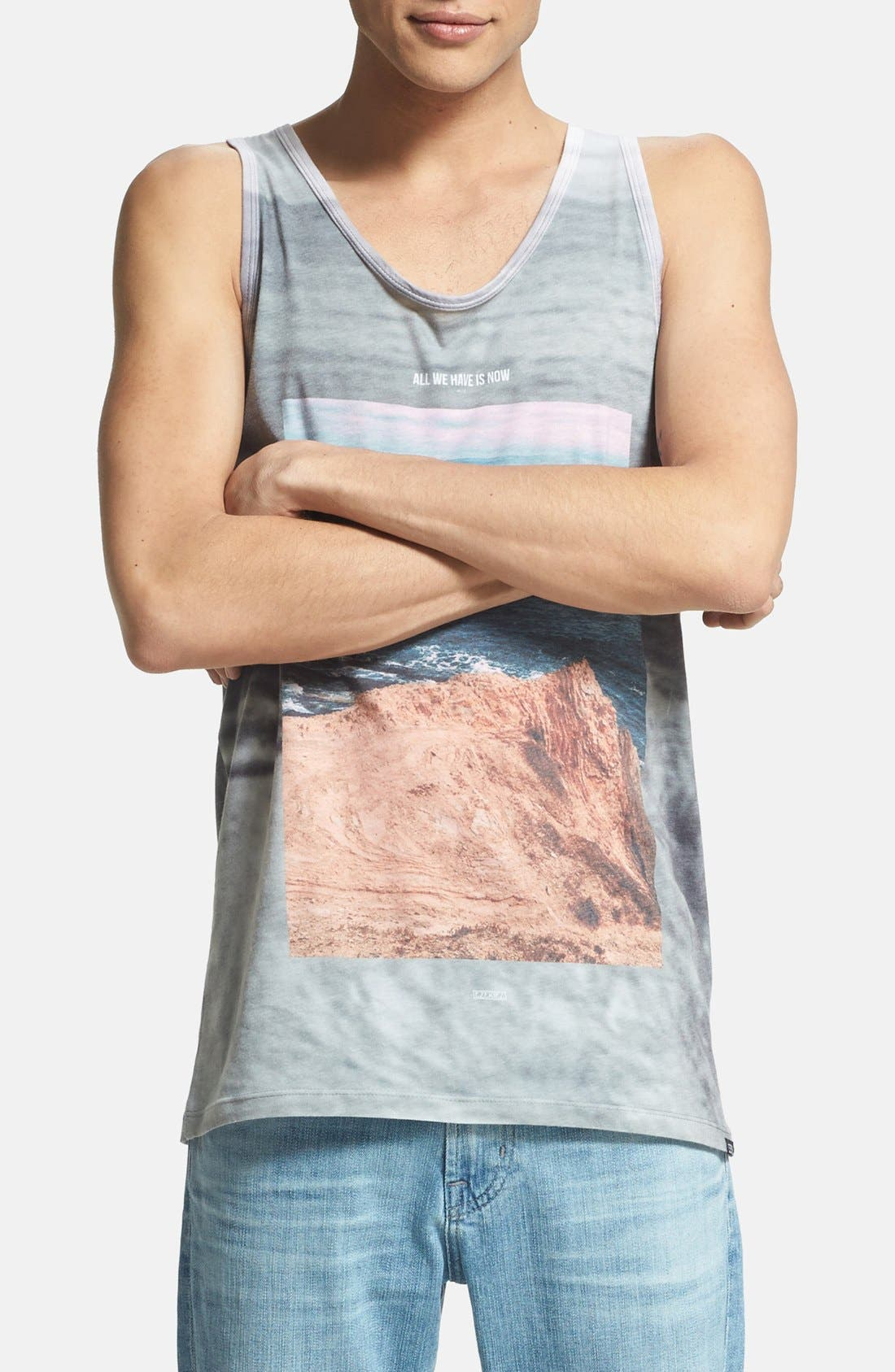 Alternate Image 1 Selected - Ezekiel 'Look Out' Print Tank Top
