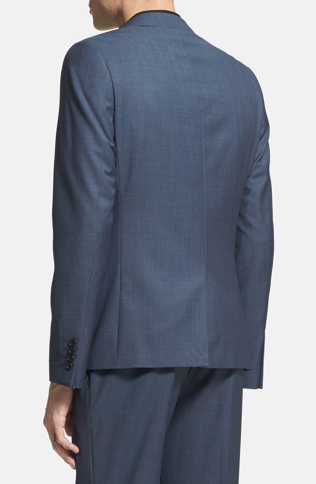 Alternate Image 2  - Topman Skinny Fit Navy Suit Jacket