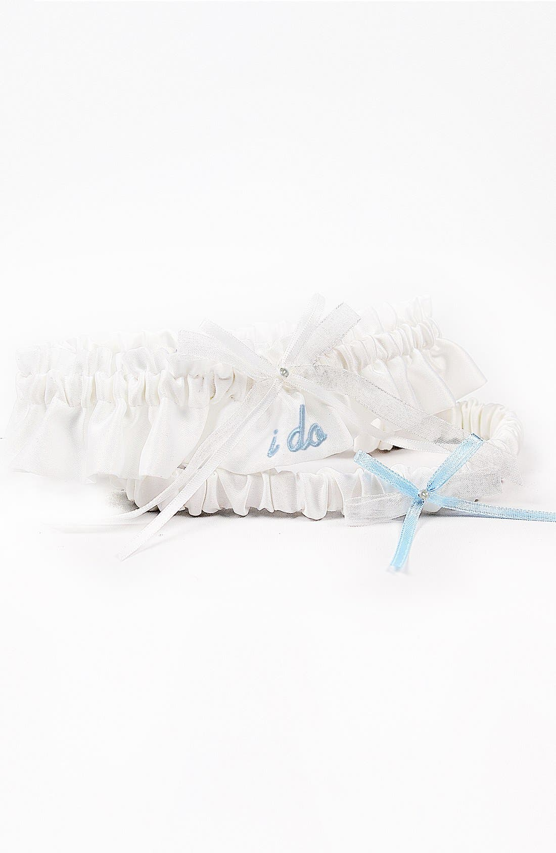 Alternate Image 2  - 'I Do' Embroidered Wedding Garter