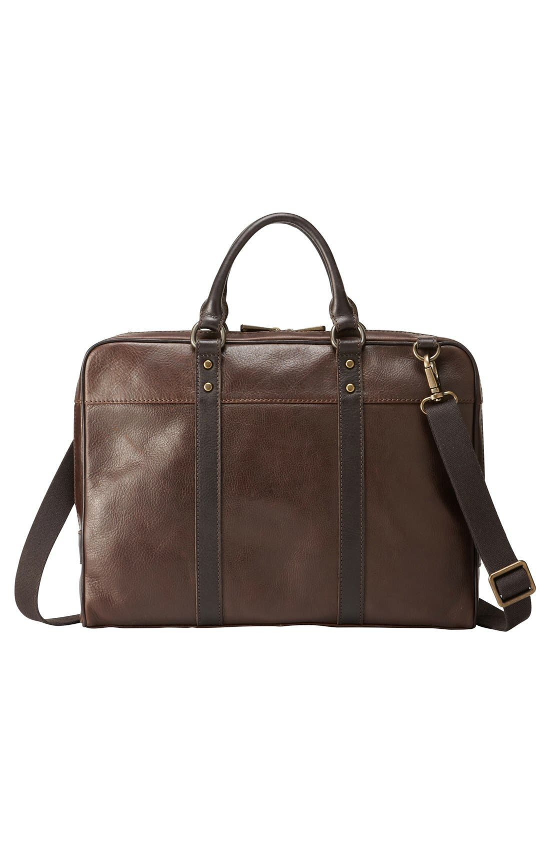 Alternate Image 1 Selected - Fossil 'Estate' Leather Briefcase