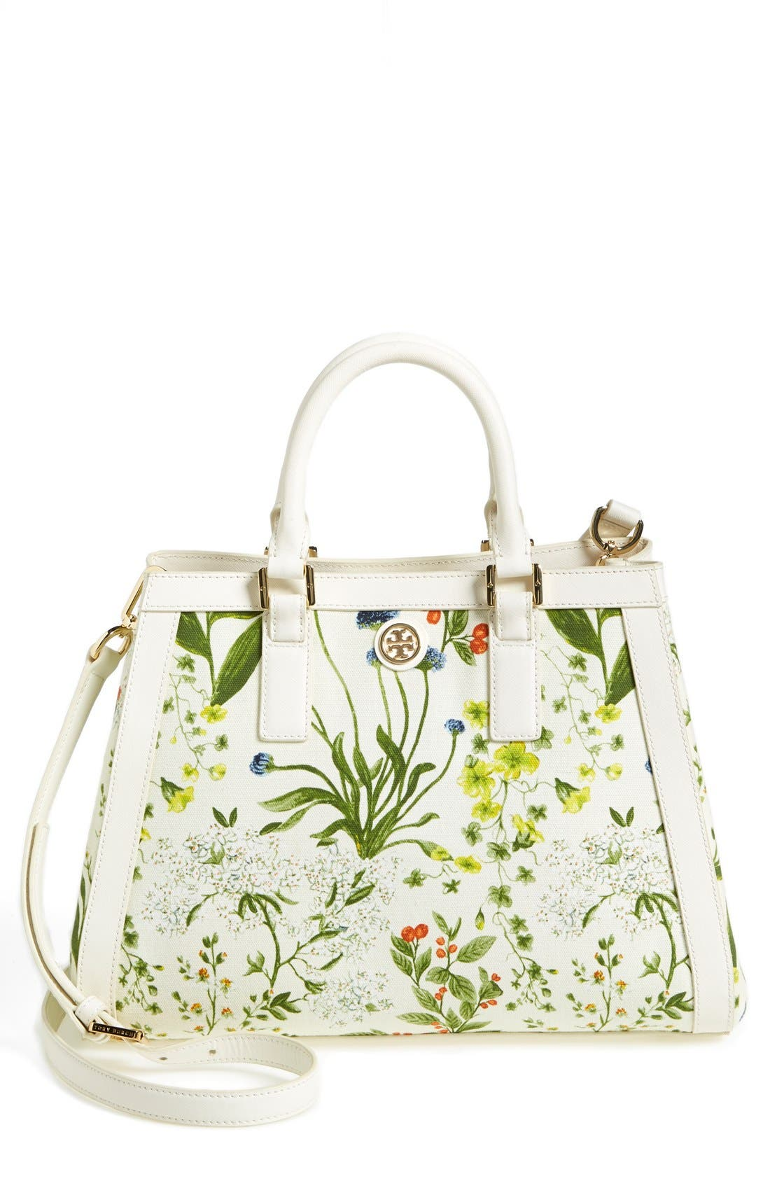 Alternate Image 1 Selected - Tory Burch 'Robinson' Canvas Triangle Tote