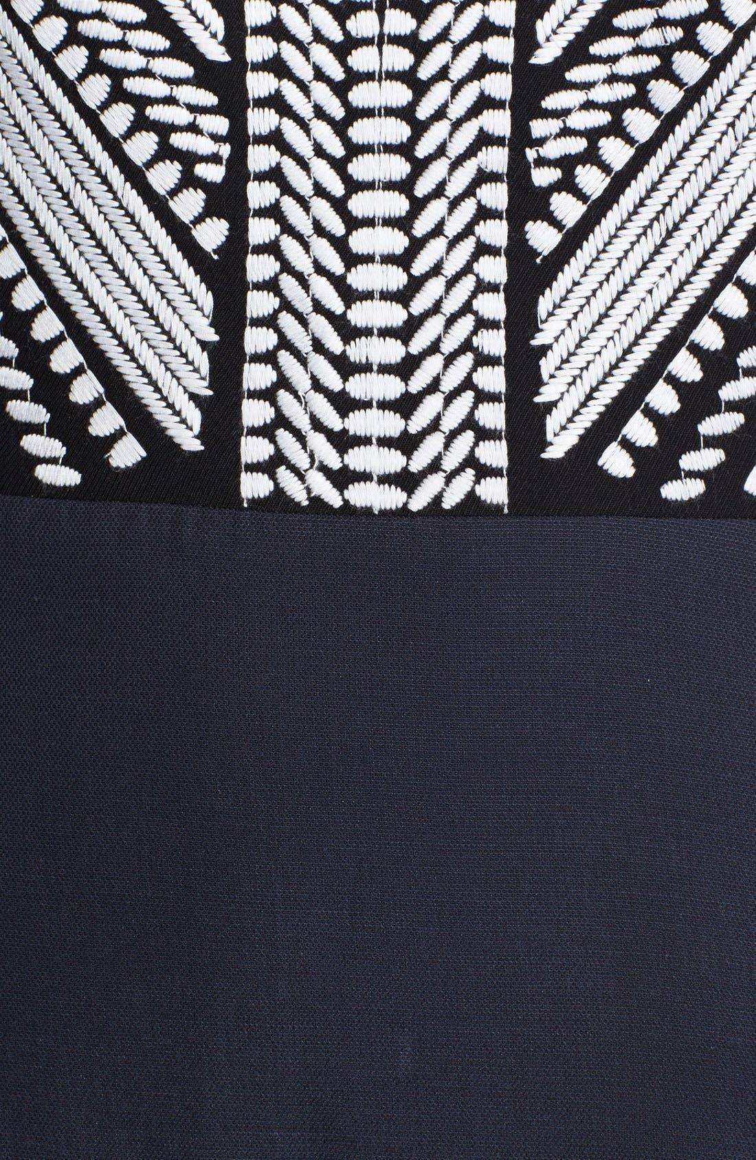 Alternate Image 3  - Tibi 'Fog' Embroidered A-Line Dress