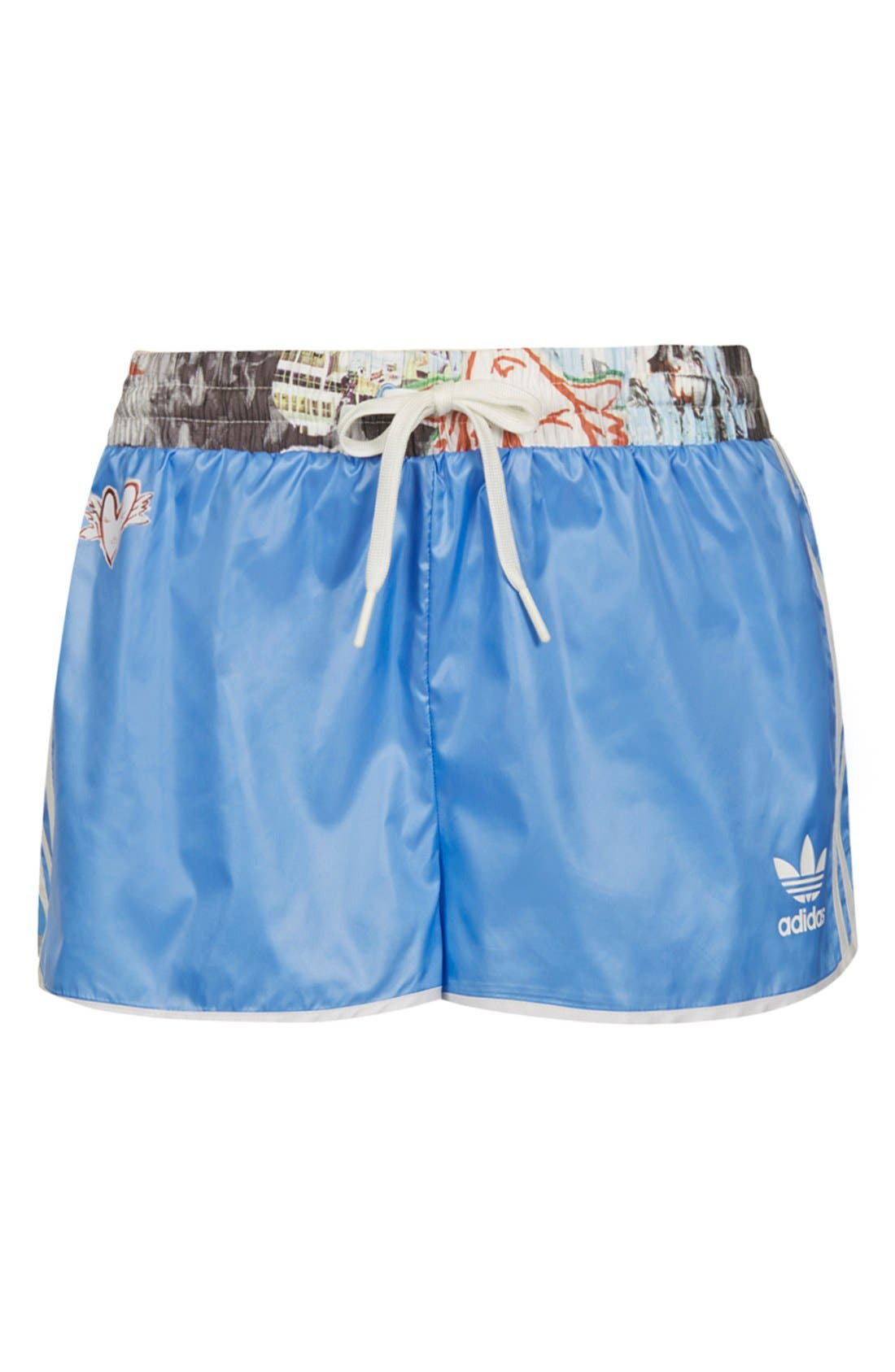 Alternate Image 3  - Topshop x adidas Originals Blue Shorts