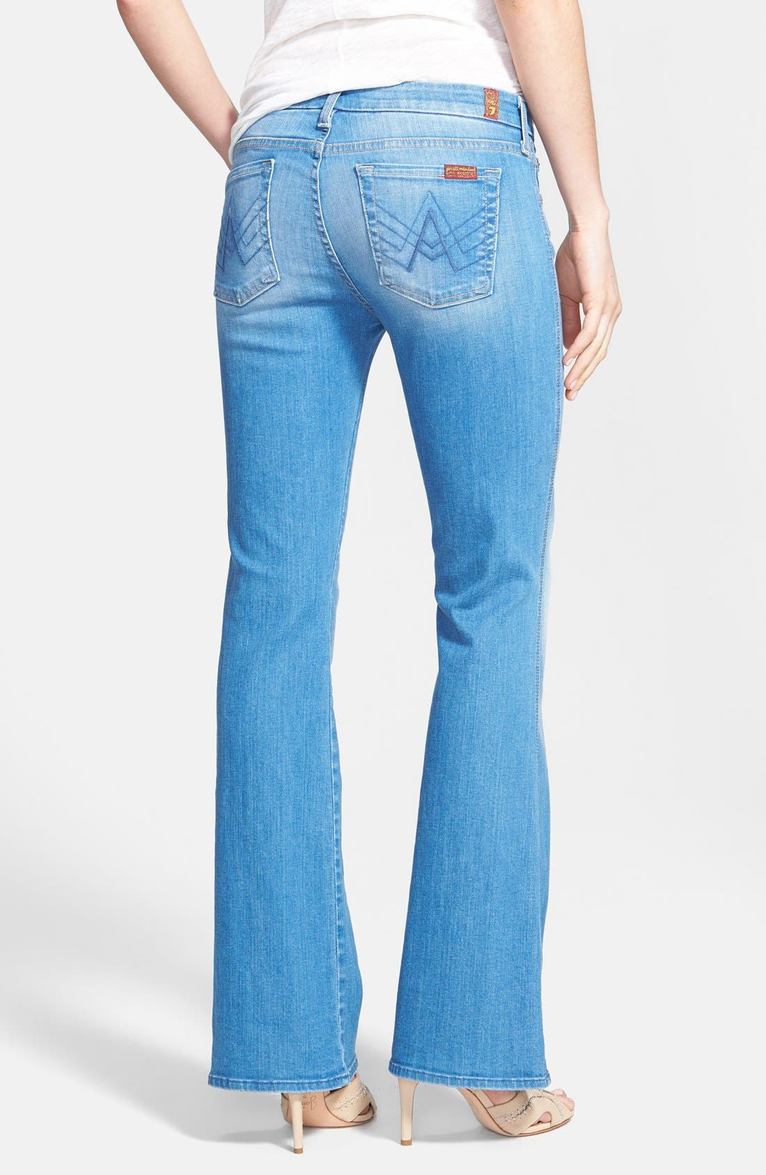 Alternate Image 2  - 7 For All Mankind® 'A-Pocket' Bootcut Jeans (Petite) (Dutch Blue)