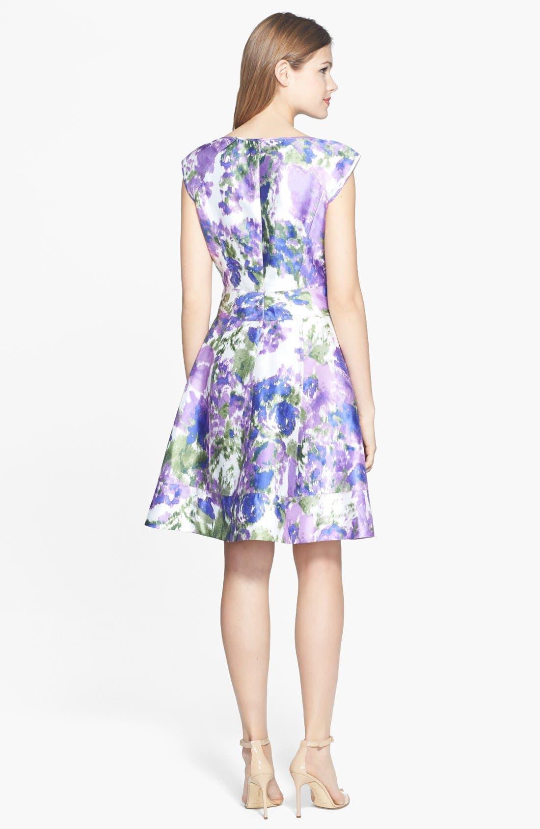Alternate Image 3  - Maggy London Print Taffeta Fit & Flare Dress (Regular & Petite)