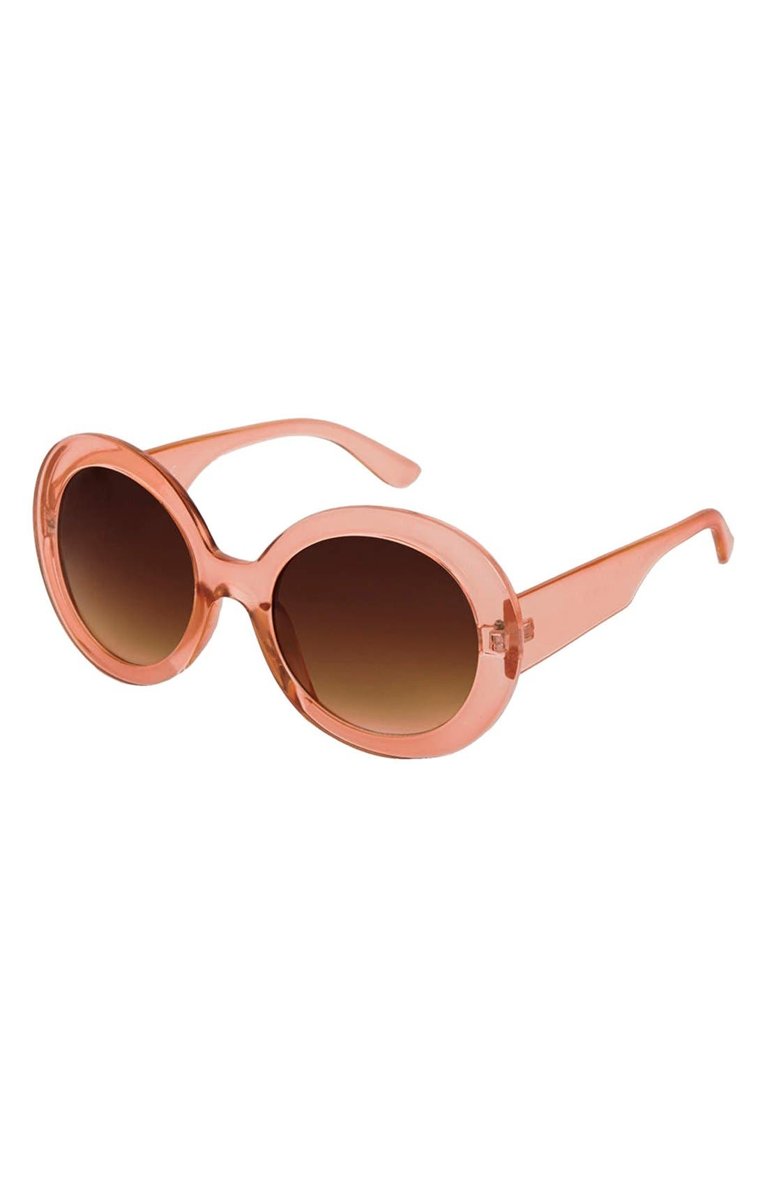 Main Image - Topshop 'Petra' 53mm Oversize Round Sunglasses