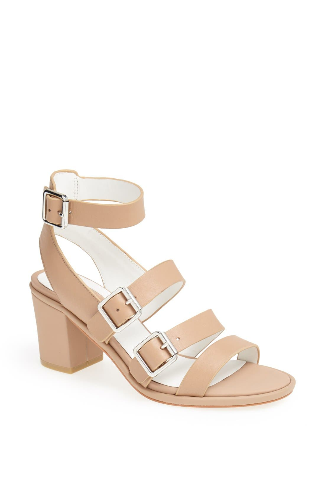 Alternate Image 1 Selected - Topshop 'Nowhere' Mid Heel Sandal