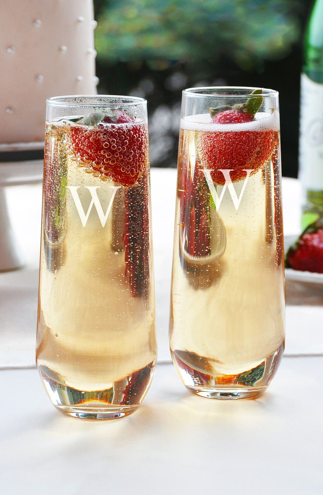 Alternate Image 1 Selected - Cathy's Concepts Personalized Stemless Champagne Flutes (Set of 2)