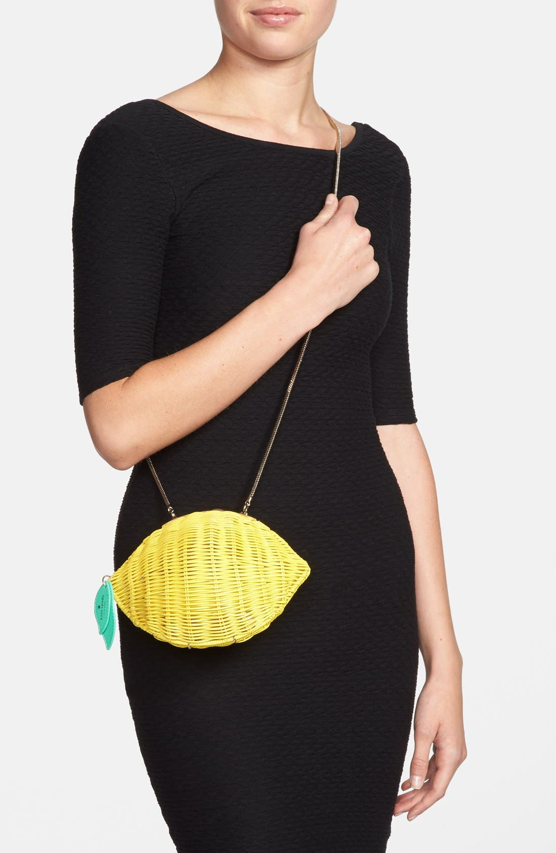 Alternate Image 2  - kate spade new york 'vita riva' wicker lemon crossbody bag