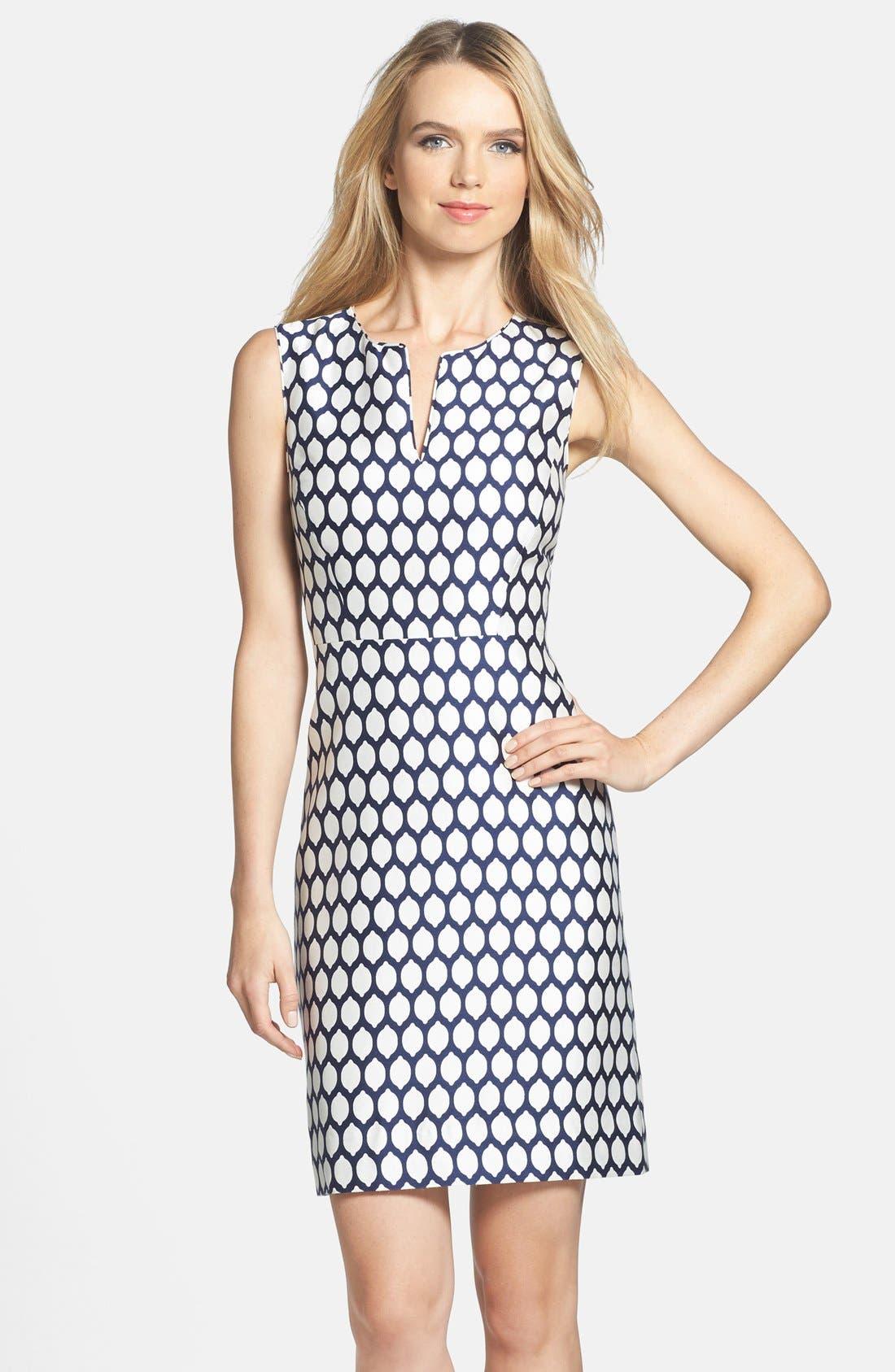 Alternate Image 3  - kate spade new york 'emrick' print cotton blend sheath dress
