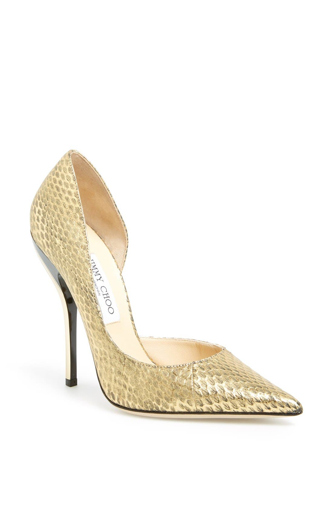 Alternate Image 1 Selected - Jimmy Choo 'Whistler' Snake Embossed Leather Pump