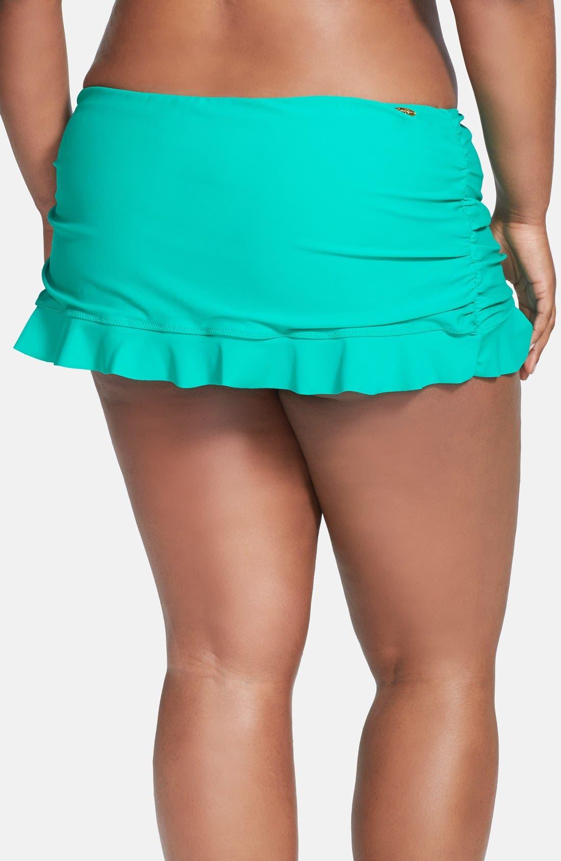 Alternate Image 2  - Jessica Simpson Skirted Swim Bottoms (Plus Size)