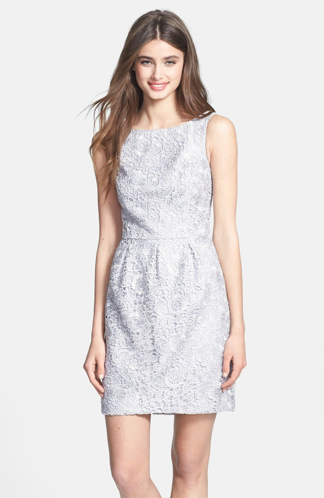 Alternate Image 1 Selected - Aidan Mattox Lace Sheath Dress (Online Only)