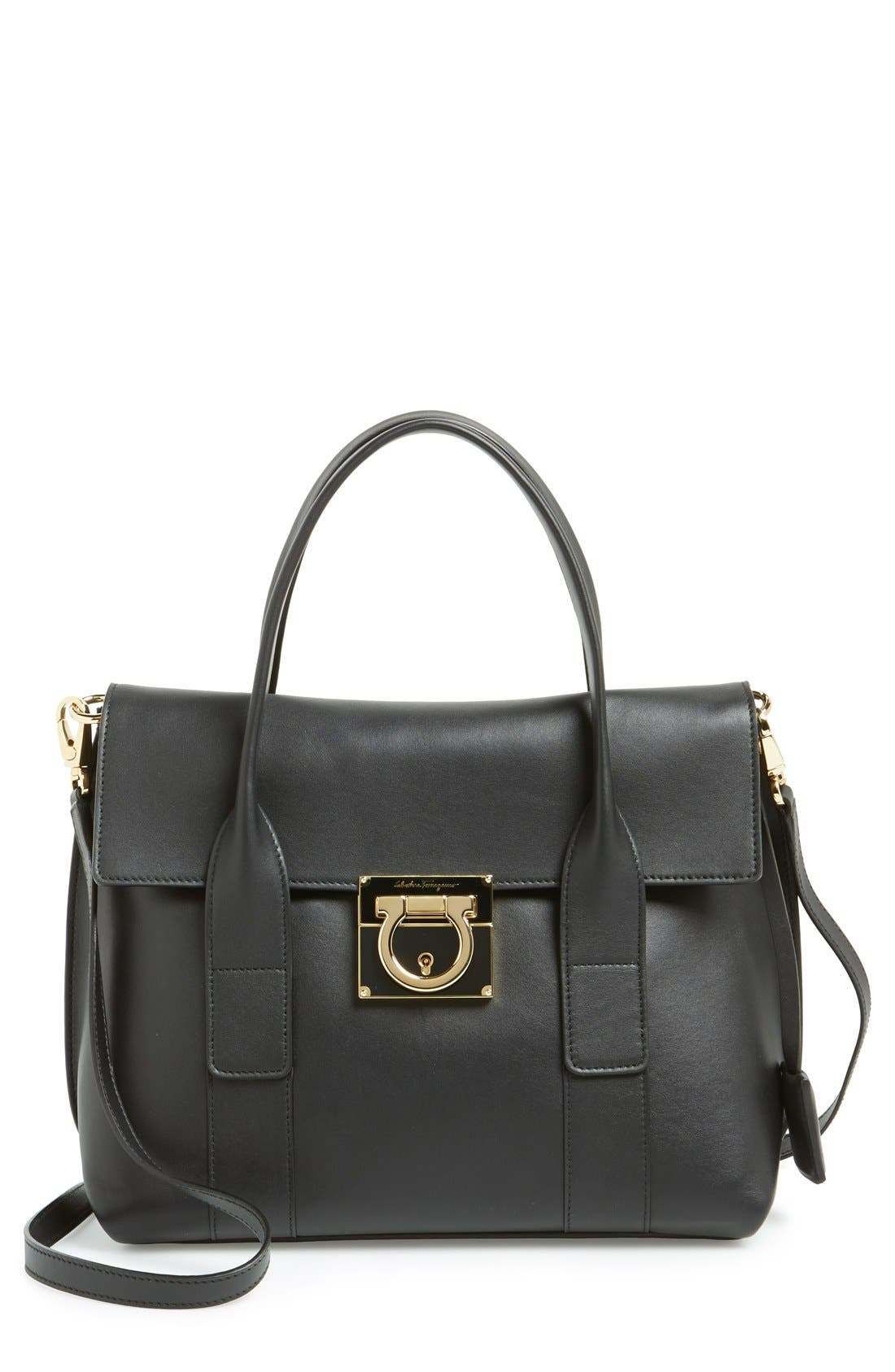 Main Image - Salvatore Ferragamo 'Mini Sookie' Leather Satchel