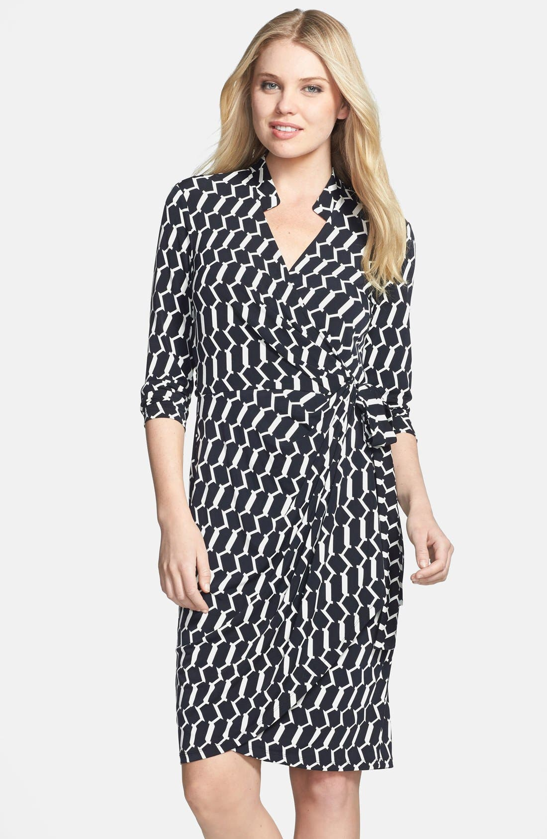 Main Image - Maggy London Print Matte Jersey Wrap Dress