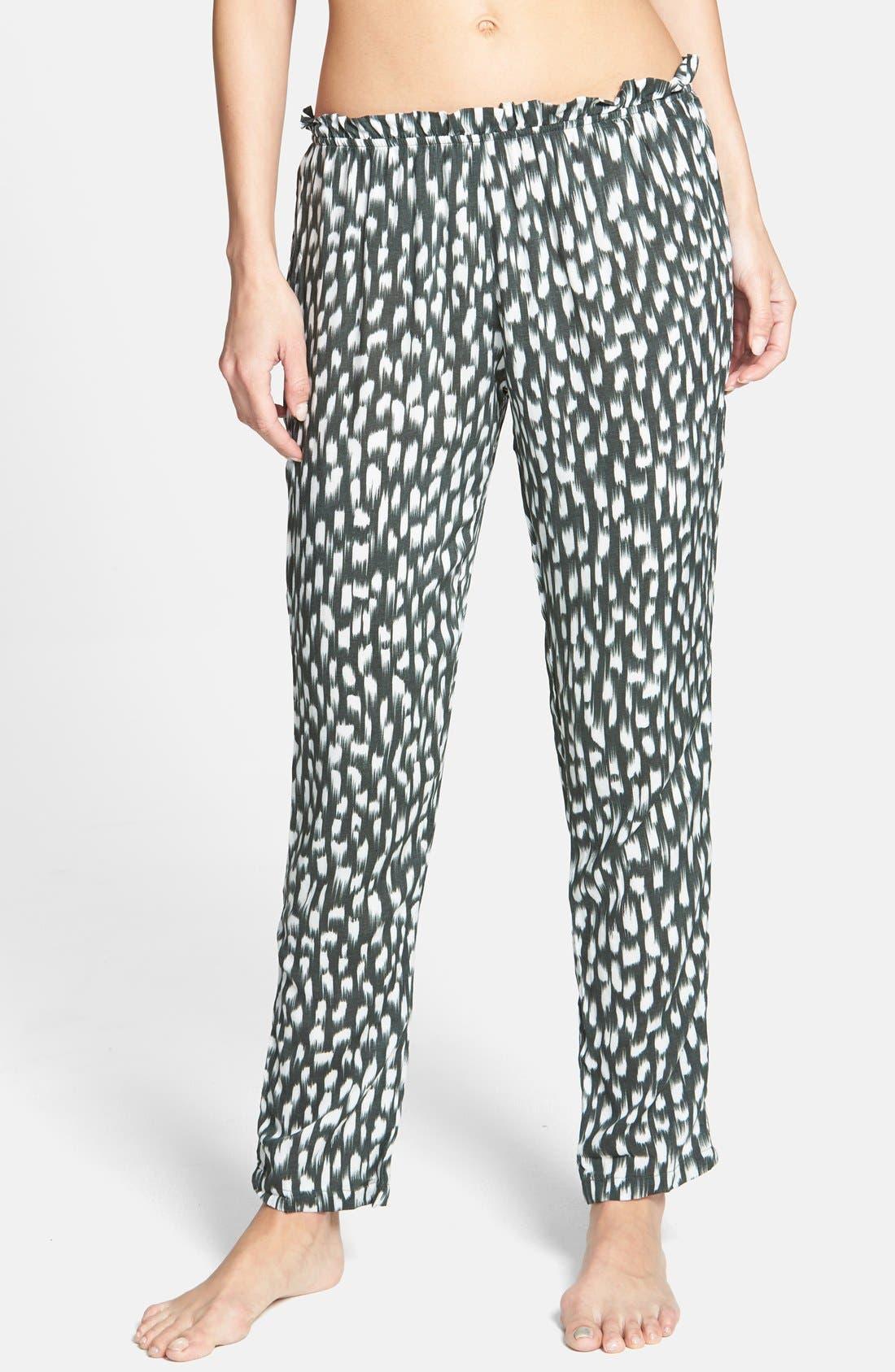 Alternate Image 1 Selected - Eberjey 'Wild Brush Jasper' Roll Tab Cover-Up Pants