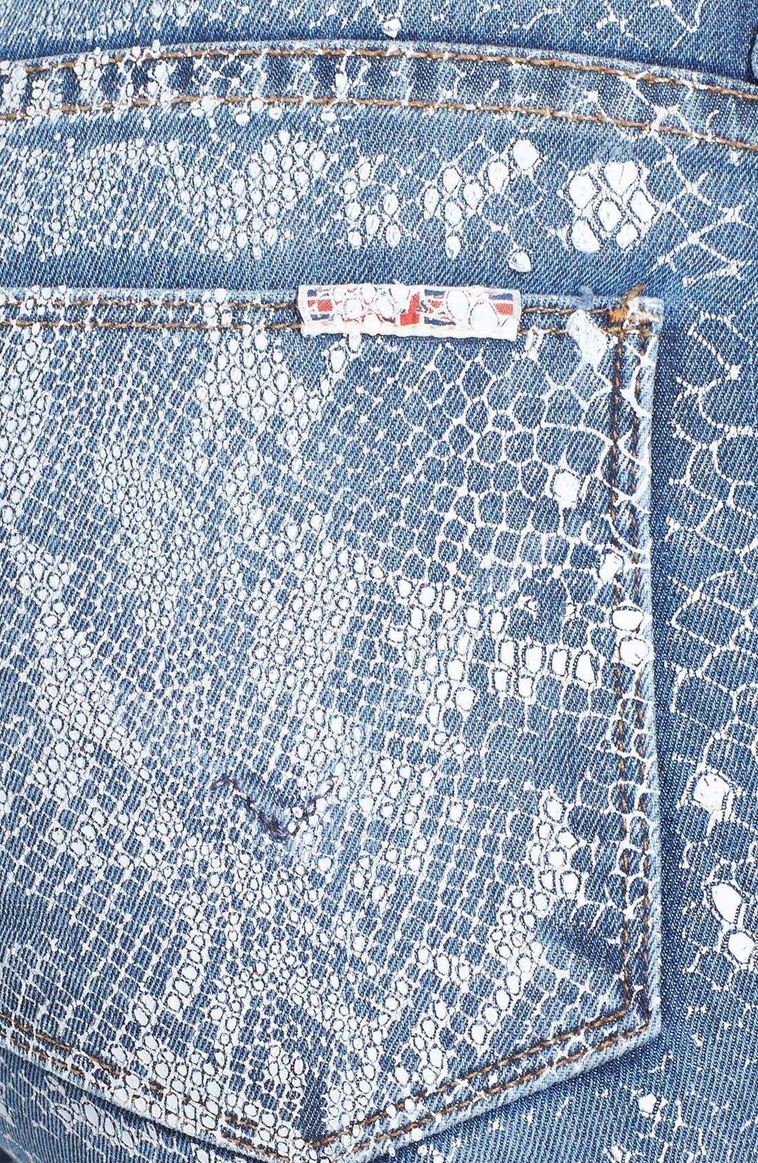 Alternate Image 3  - Hudson Jeans 'Nico' Print Skinny Stretch Jeans (Copperhead)