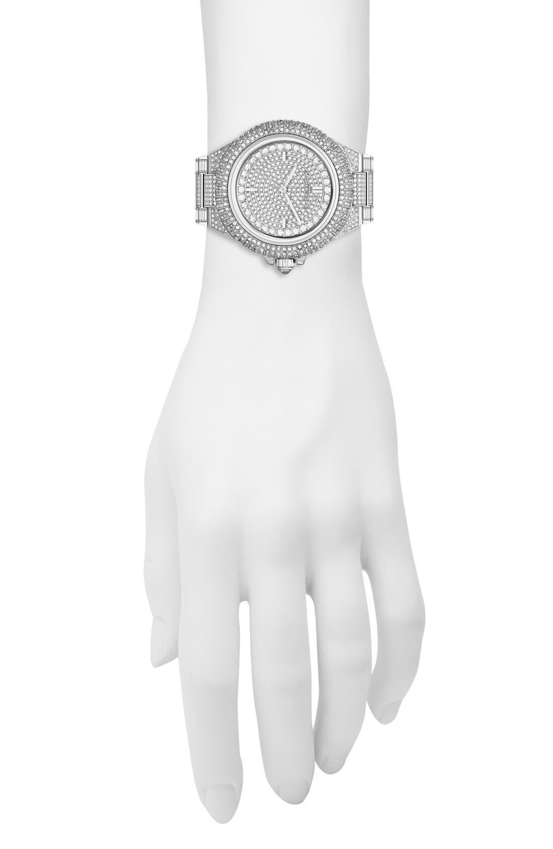 Alternate Image 3  - Michael Kors 'Camille' Crystal Encrusted Bracelet Watch, 44mm