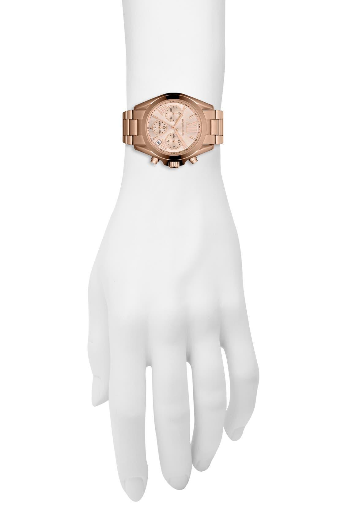 'Bradshaw - Mini' Chronograph Bracelet Watch, 36mm,                             Alternate thumbnail 4, color,                             Rose Gold