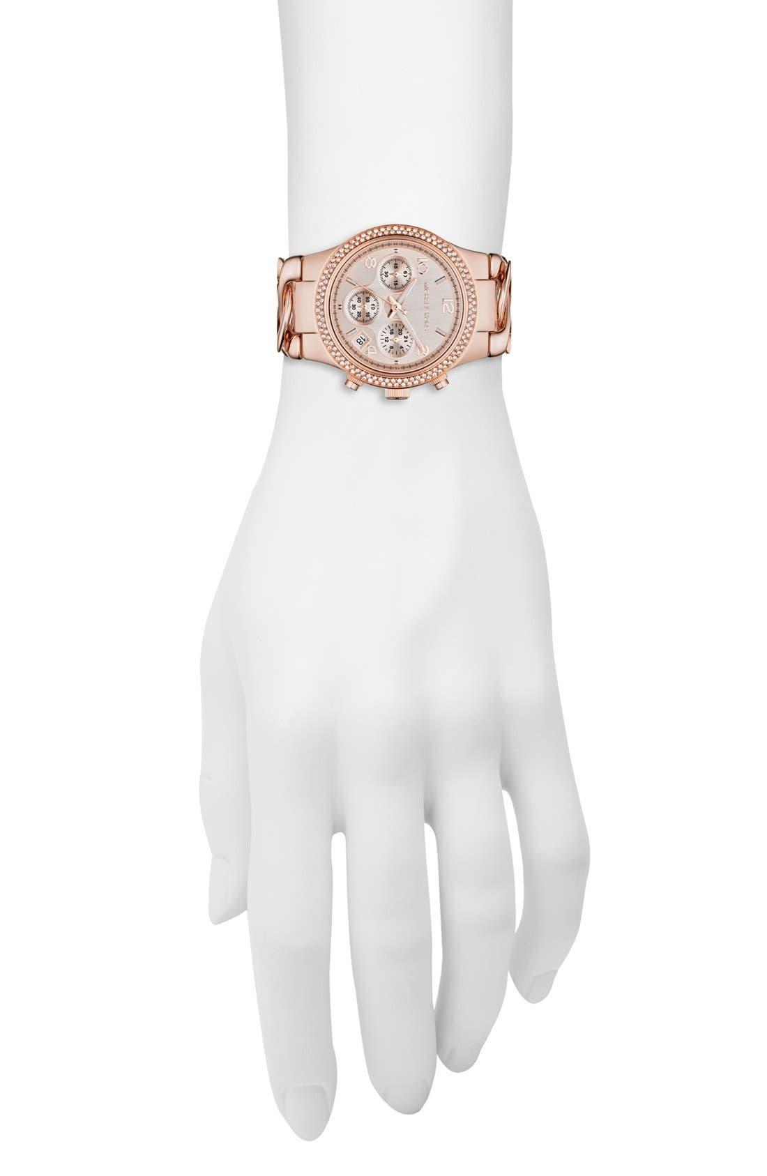 Alternate Image 4  - Michael Kors 'Runway' Chain Bracelet Watch, 38mm