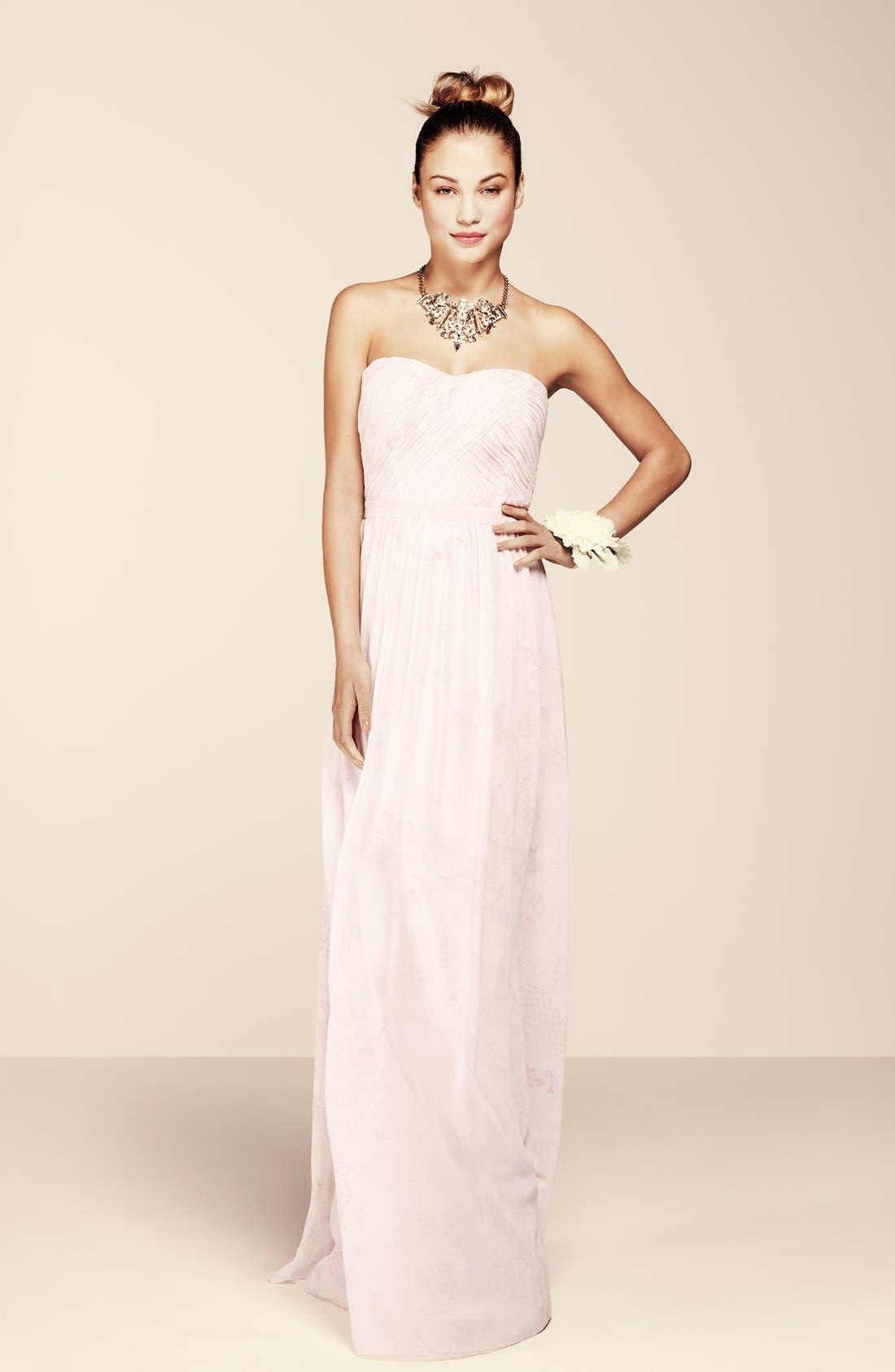 Alternate Image 5  - ERIN erin fetherston 'Rose' Print Chiffon Strapless Gown