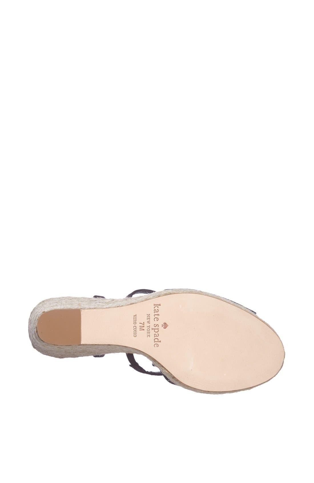 Alternate Image 4  - kate spade new york 'juju' wedge sandal