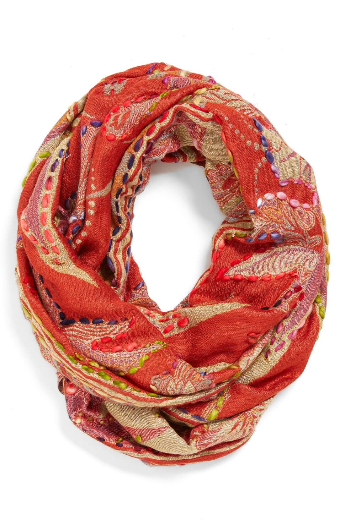 Alternate Image 1 Selected - Raj Imports Embroidered Infinity Scarf