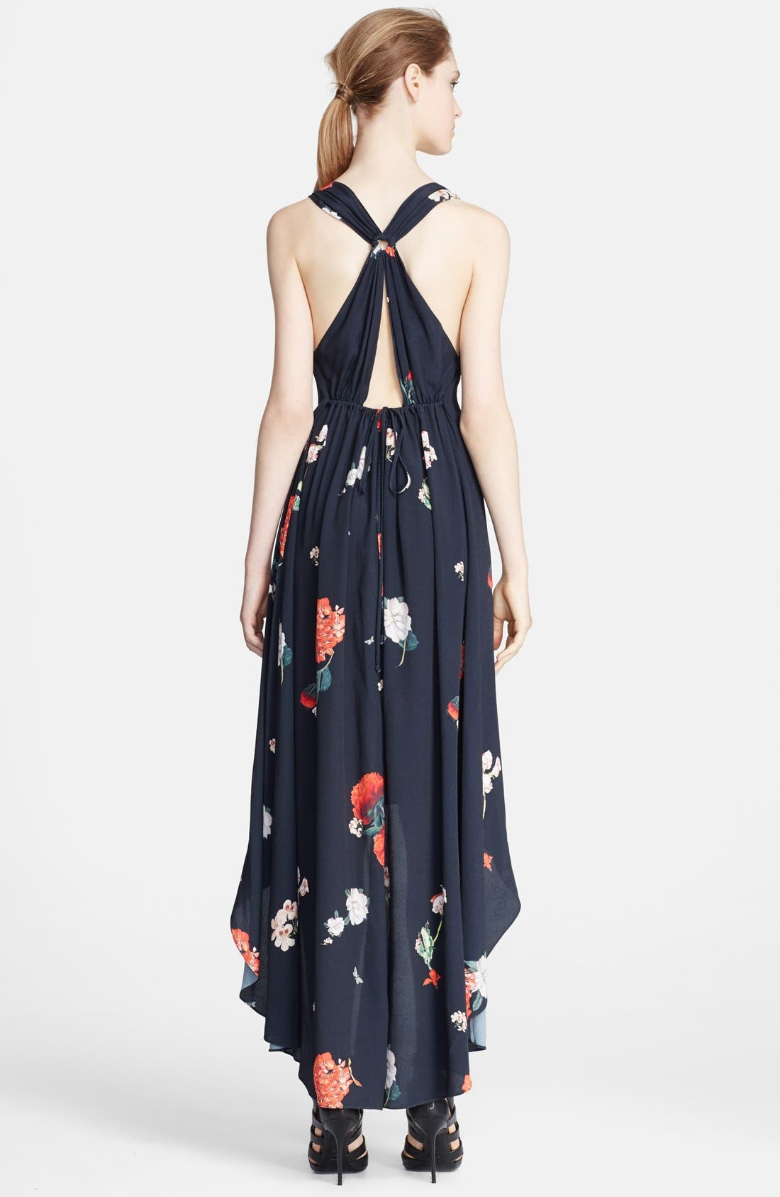 Alternate Image 2  - Alice + Olivia 'Veronica' Floral Print High/Low Dress